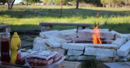 fire pit serving area