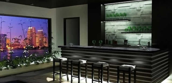 installing home bar